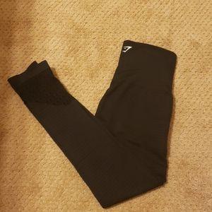 Gymshark black leggings size small.
